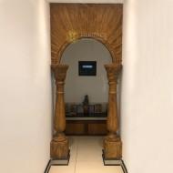 Open Wooden Pooja Room