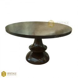 Georgian Style Wooden Round Dining Table