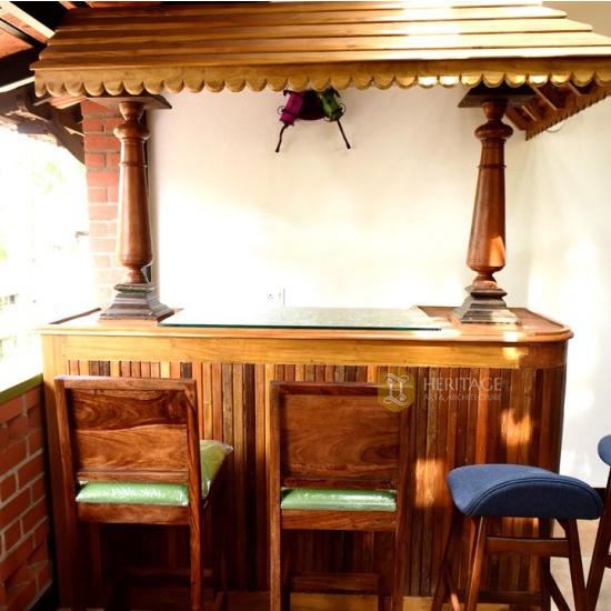 Teak wood Bar Counter