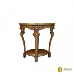 Carved Designer Side Stool