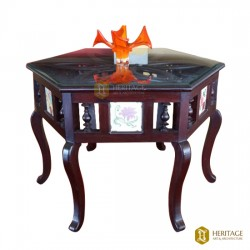 Antique Style Chettinad Hexagonal Table