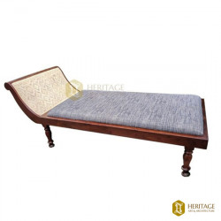 Teak Wood Cushion Diwan