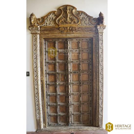 Antique Chettinad Wooden Door