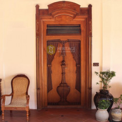 Antique South Indian Teak Door