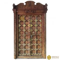Gajalakshmi Wooden Front Door