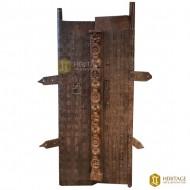 Vintage Half-and-Half Wooden Door