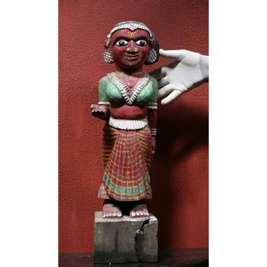Folk Art Dancer Statue