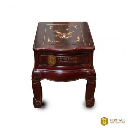 Antique Style Wooden Coffee Table With Storage