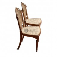 Cane and Wood Back Chair