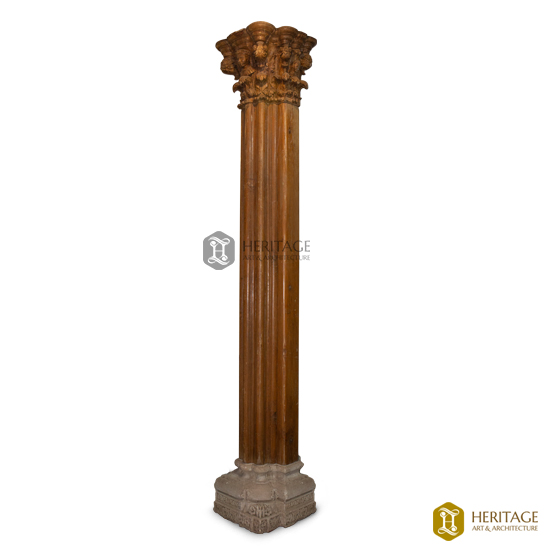 Carved Wooden Pillar