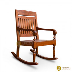 Wooden Square Rocking Chair