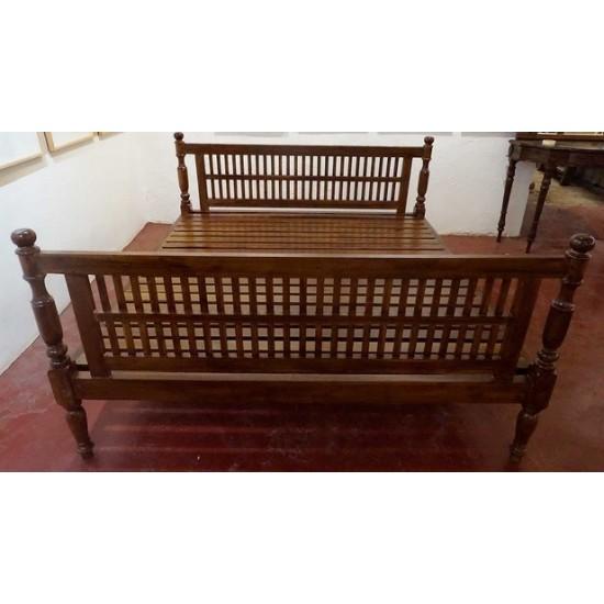 Teak Wood Colonial Style Bed