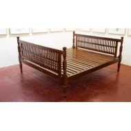 Teak Wood Colonial Style Bed