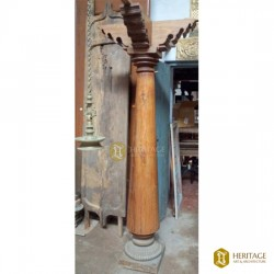 Antique Chettinad teak wooden pillar