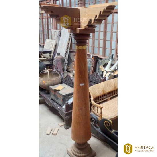 Antique Chettinad teak wooden pillar