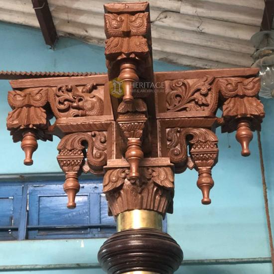 Antique Rosewood Pillar