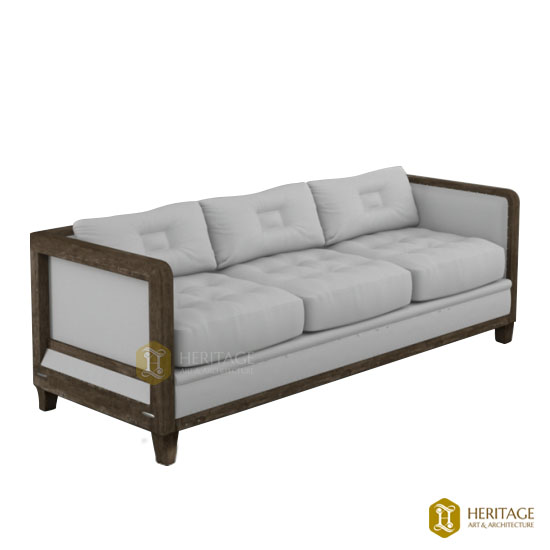 3 Seater Comfy Rosewood Sofa Set
