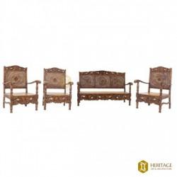 Double Cane Woven Sofa Set