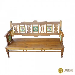 Double Sided Wooden Sofa