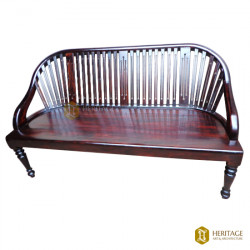 Rosewood Stripped Wooden Sofa