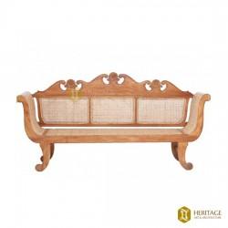Teakwood Cane Woven Sofa Set