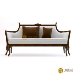 Teakwood Colonial Style Sofa