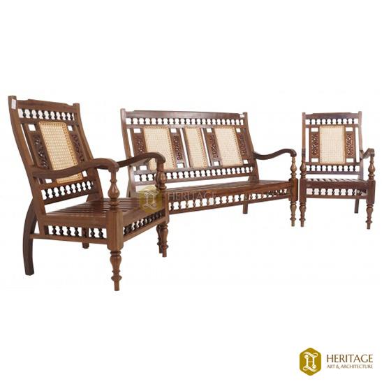 Vintage Wooden Sofa Set