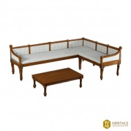 Wooden Corner Sofa