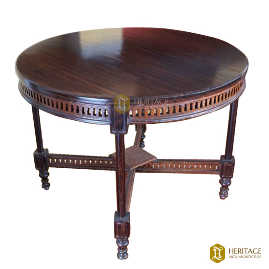 Antique Style Rose Wood Round Table