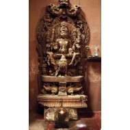 wooden statue of lord muruga
